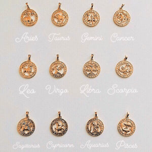 Zodiac necklaces 24kt - Neckontheline