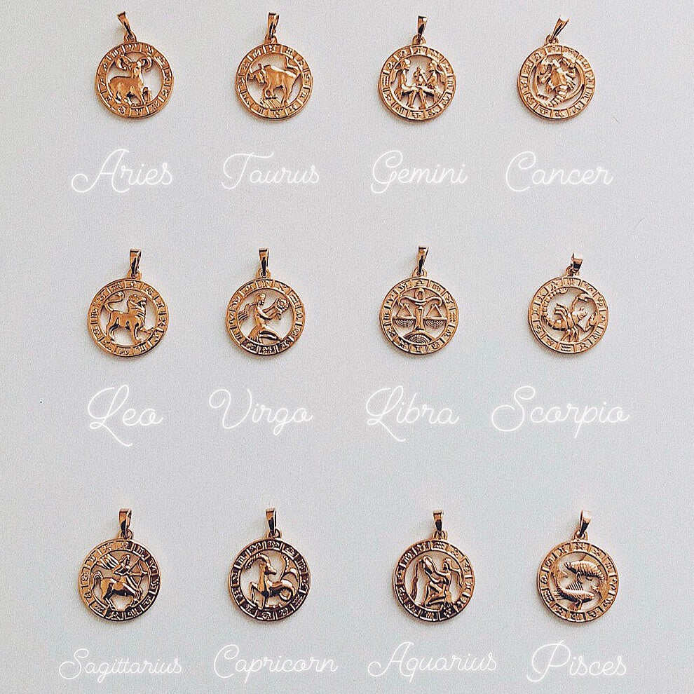 Zodiac Necklaces 18kt - Neckontheline