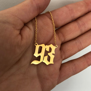 Birth Date necklace - Neckontheline