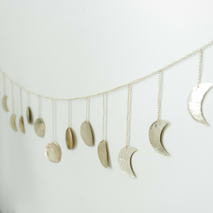 Hammered Metal Moon Banner