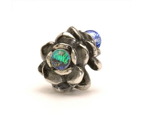 Trollbeads Three Flowers, Silver/Dichroic