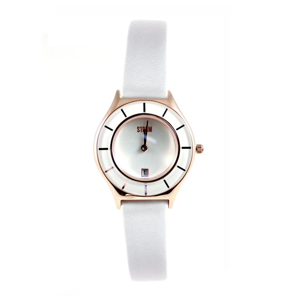 STORM Watches Slimrim Rose Gold Leather