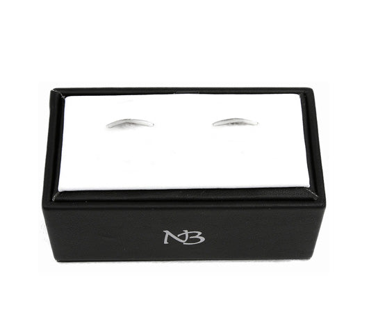Nicole Barr Silver Train Cufflinks