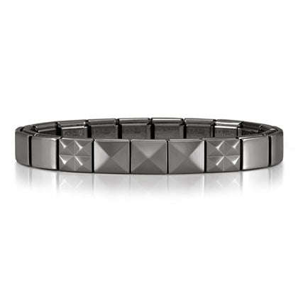 Nomination Ikons Bracelet Grey with Pyramids