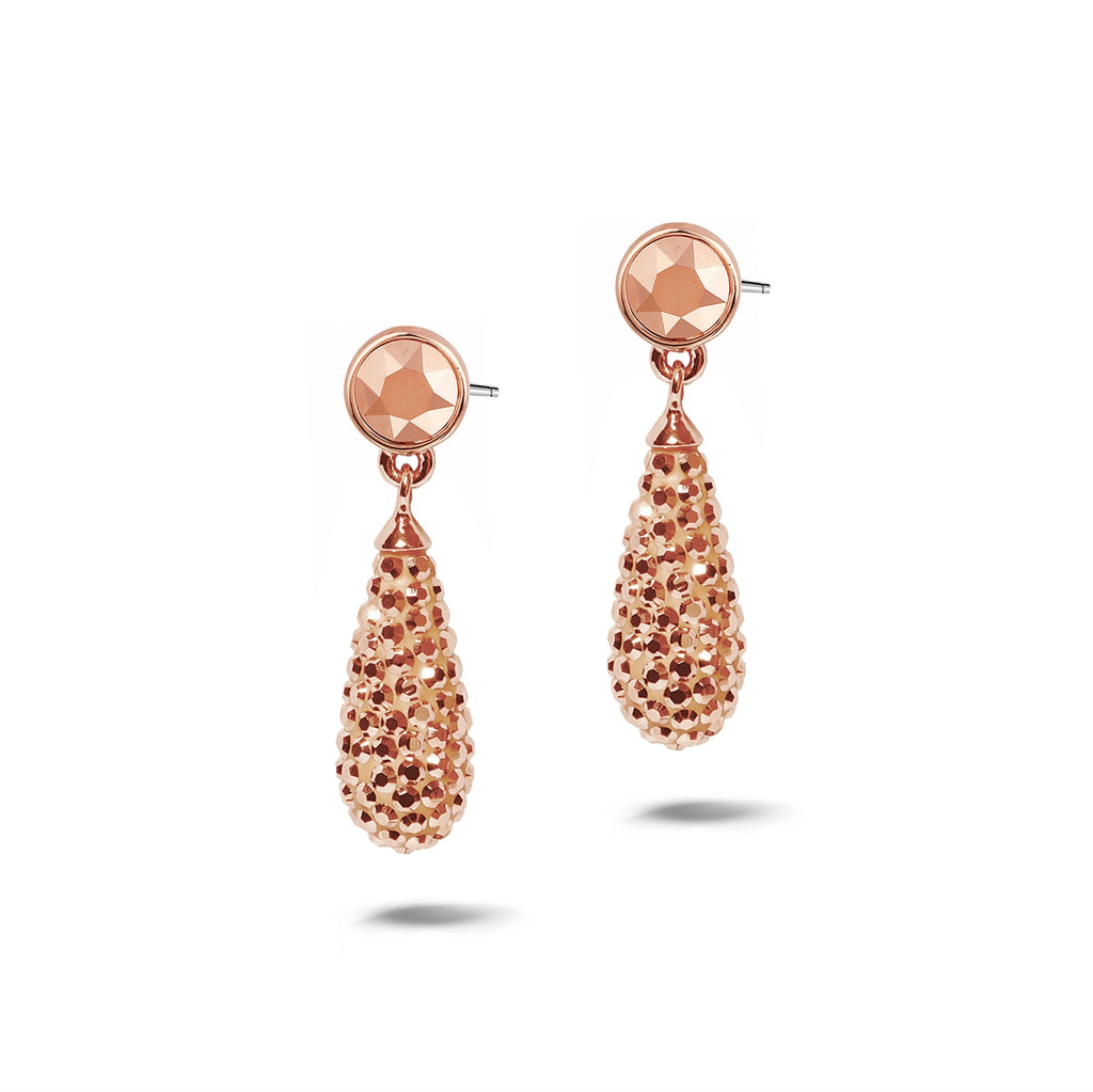 Phantasya Jewellery Rose Gold Plated Drops with Swarovski