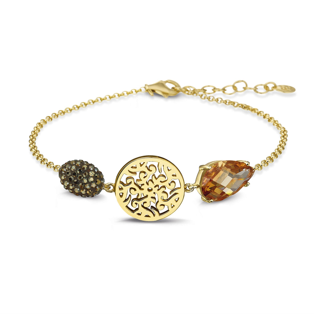 Phantasya Jewellery Gold Plated bracelet with Swarovski