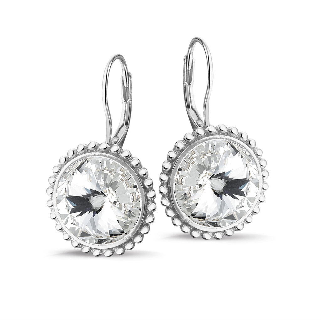 Phantasya Jewellery Silver Drops with White SWAROVSKI