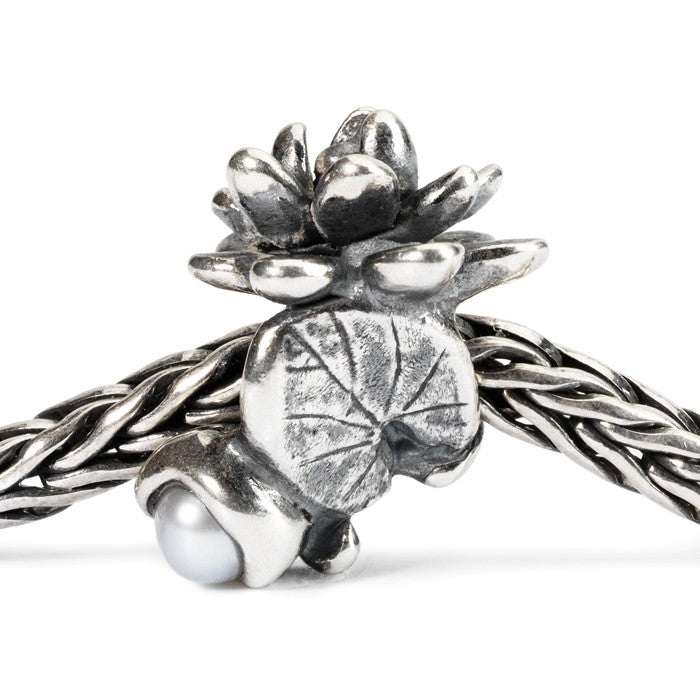 Trollbeads SILVER Water Lilies of July TAGBE-00033