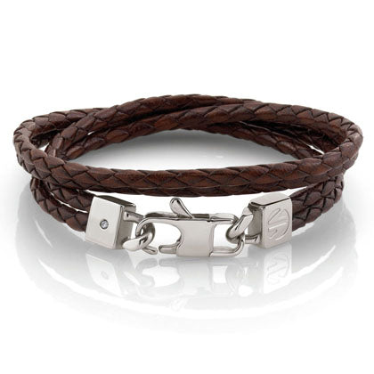 Nomination Tribe Leather Bracelet Brown