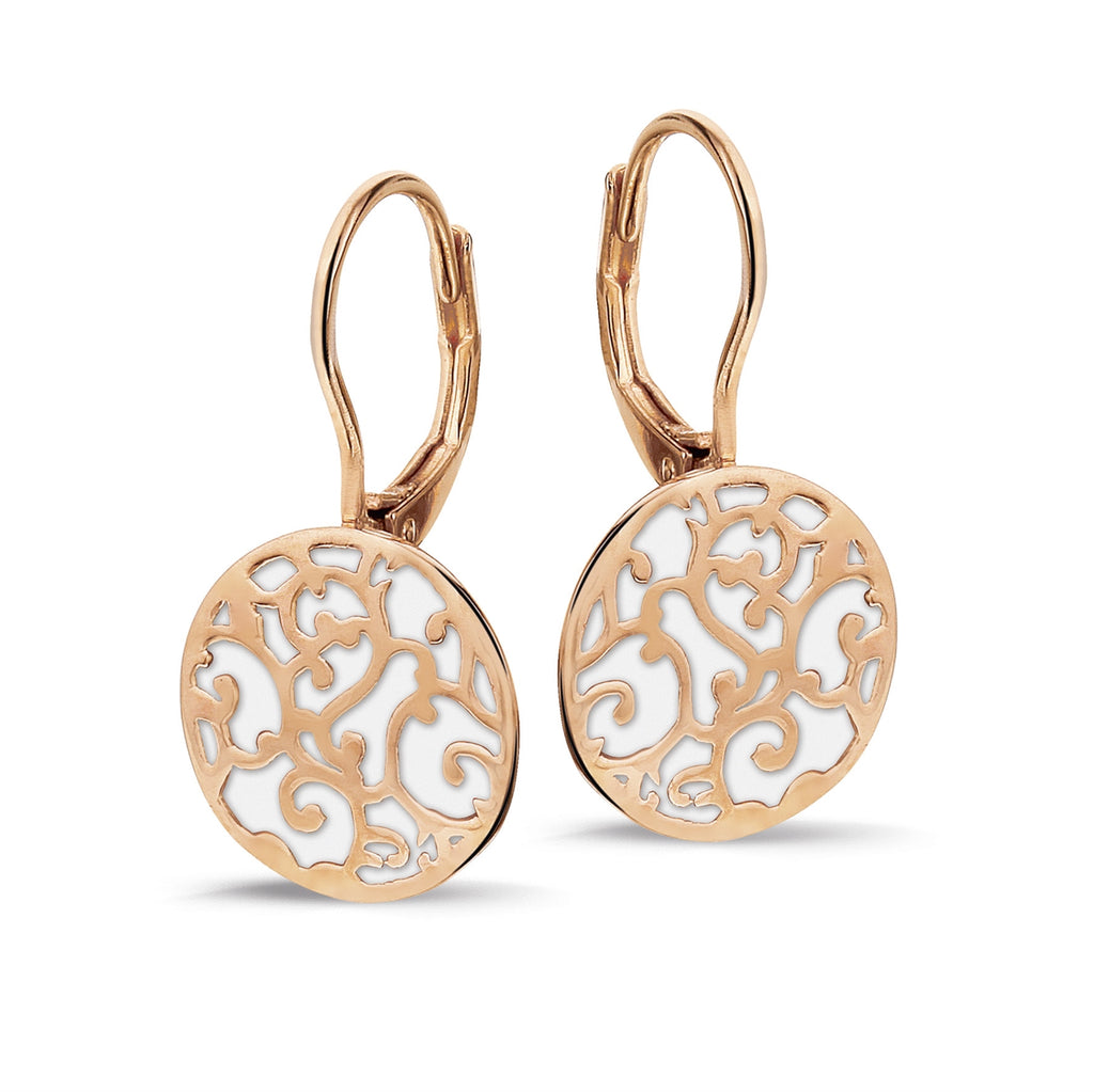 Phantasya Jewellery Rose Gold Drop Earrings