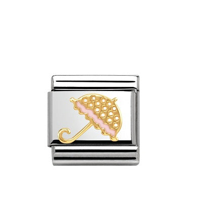 Nomination Charms 18ct Gold Parasol Umbrella