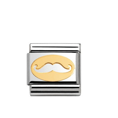 Nomination Charms 18ct Gold Mustache