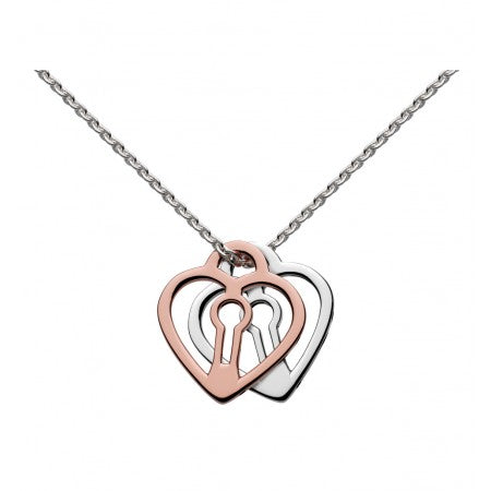 Kit Heath Double Padlock Heart Necklace