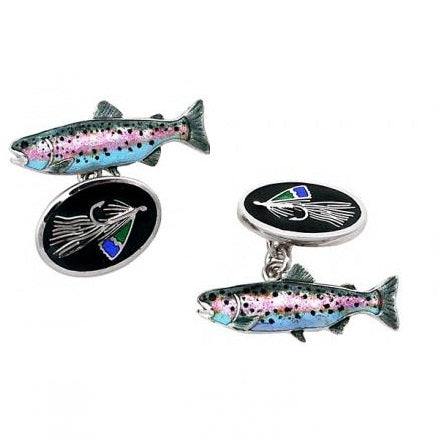 Nicole Barr Flying Fish Cufflinks