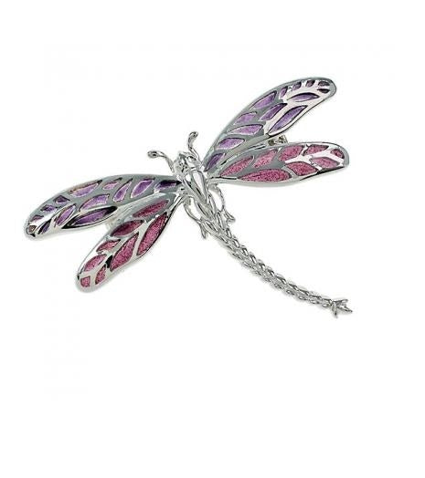 Nicole Barr Dragonfly Brooch Purple