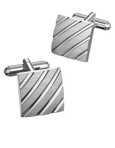 Duncan Walton Cufflinks Clough Brushed
