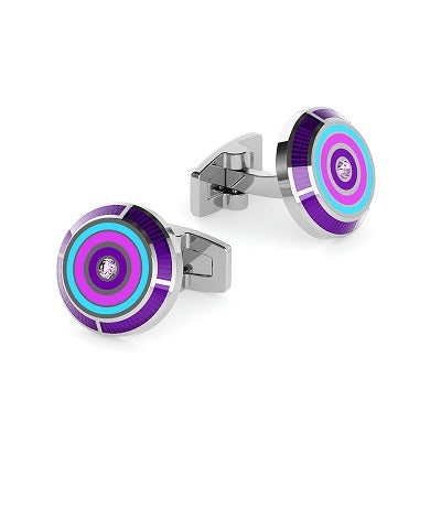 Duncan Walton Cufflinks Flux Purple/Blue