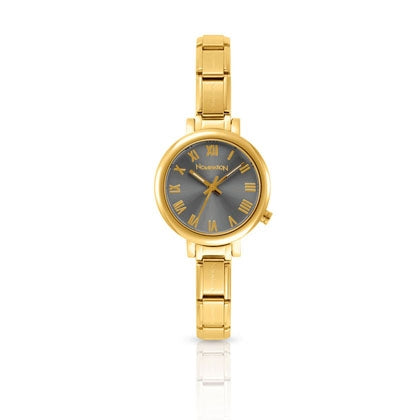 Nomination Paris Watch Grey Dial Gold Plated