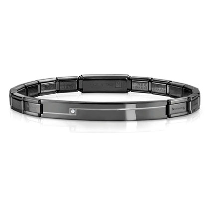 Nomination Trendsetter Bracelet Black with CZ