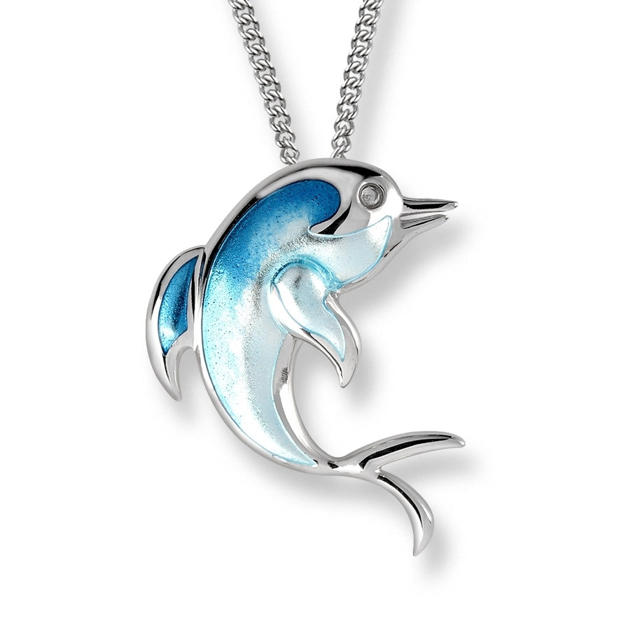 Nicole Barr Necklace Blue Dolphin