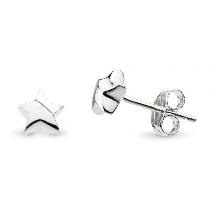Kit Heath Silver Miniature Shining Star Stud Earrings 40034HP021
