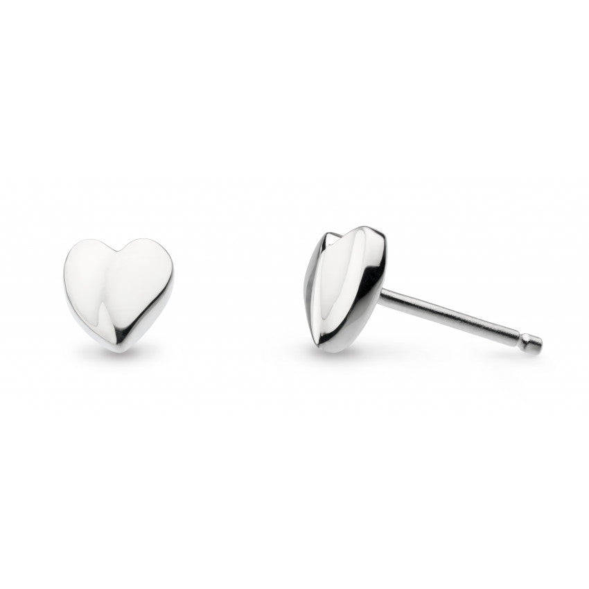 KIT HEATH SILVER Miniature Sweet Heart Stud Earrings 40032HP021
