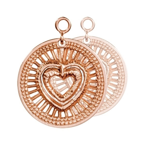 Nikki Lissoni Rose Gold My Heart Will Protect You Earring Coins