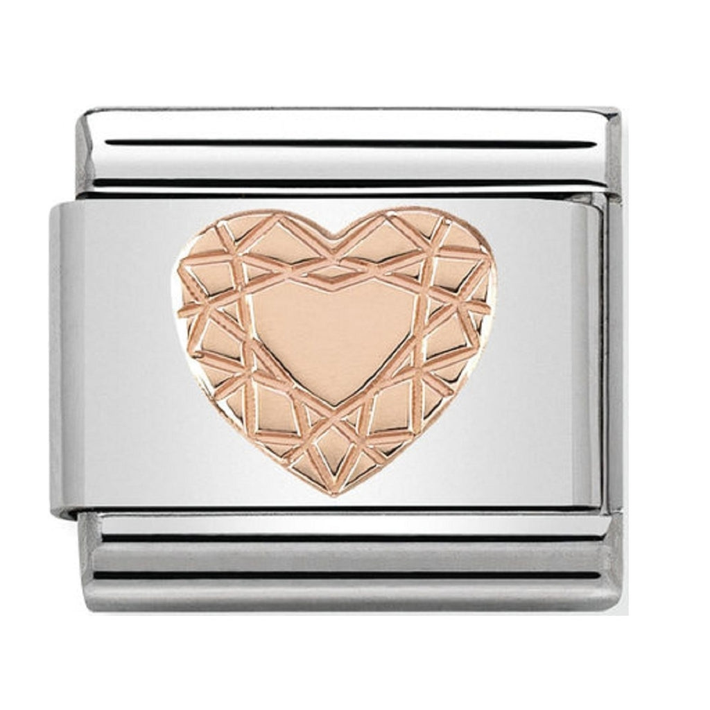 Nomination Charms Rose Gold Diamond Heart 430104-19
