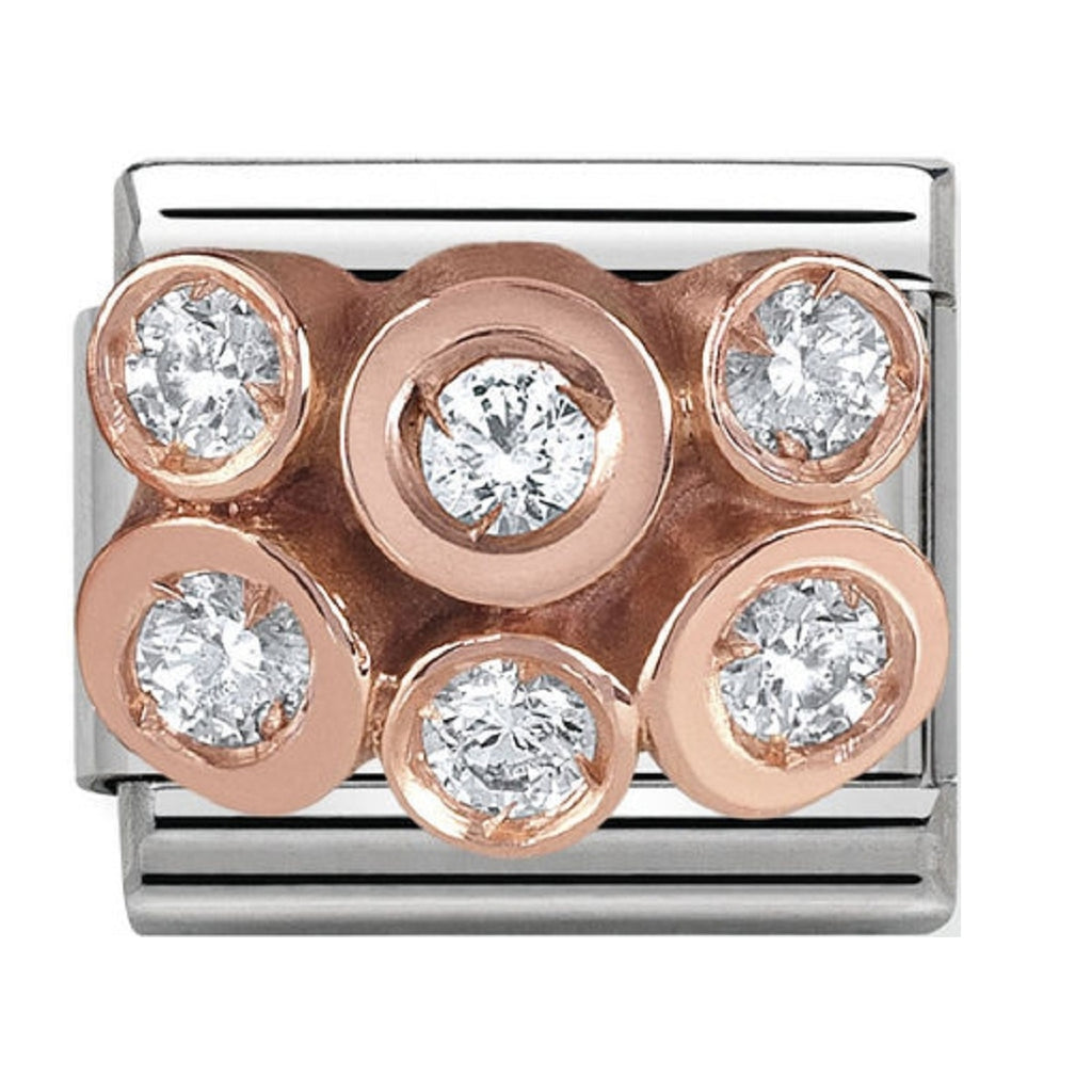 Nomination Charms Rose Gold Cluster with CZ