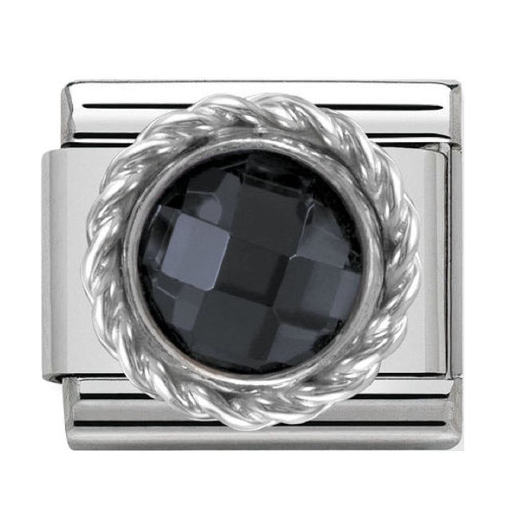 Nomination Charms Black CZ Silver Shine