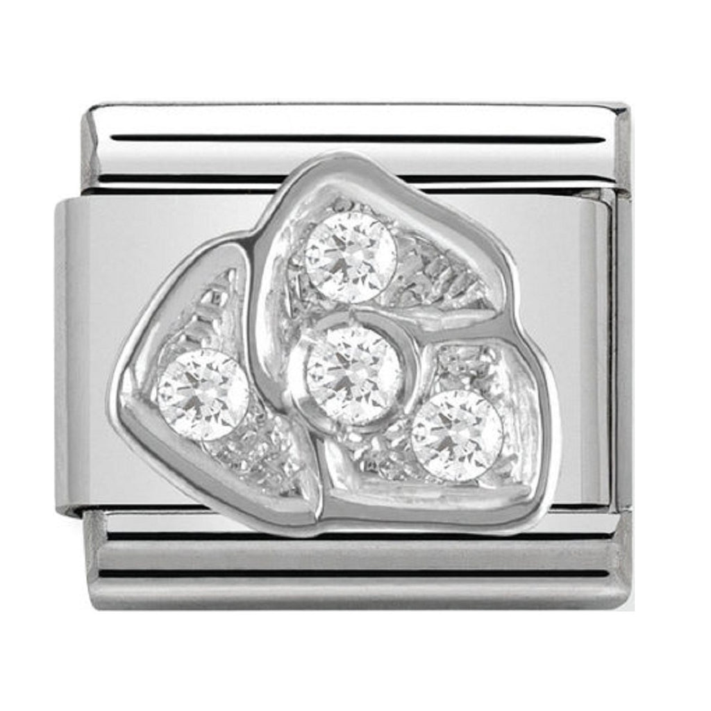 Nomination Charms CZ Rose Silver Shine