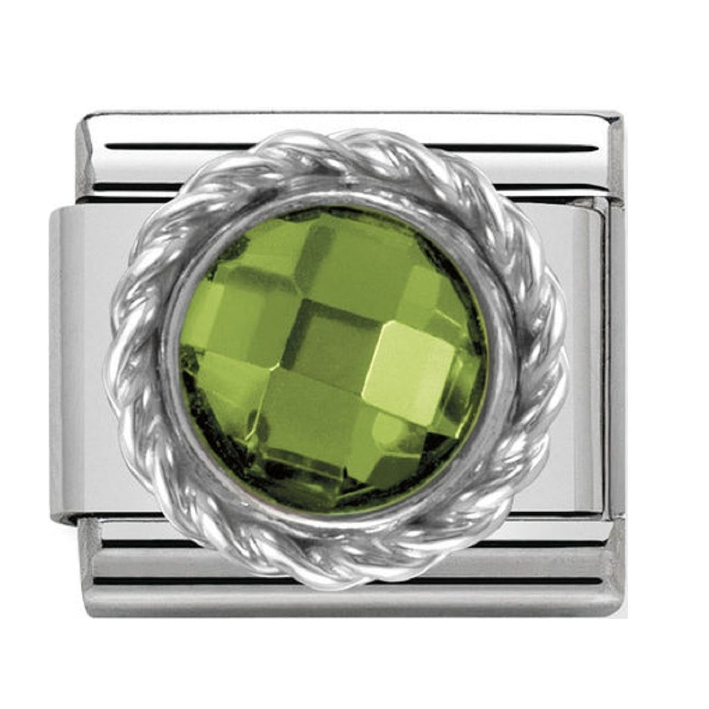 Nomination Charms Green CZ Silver Shine
