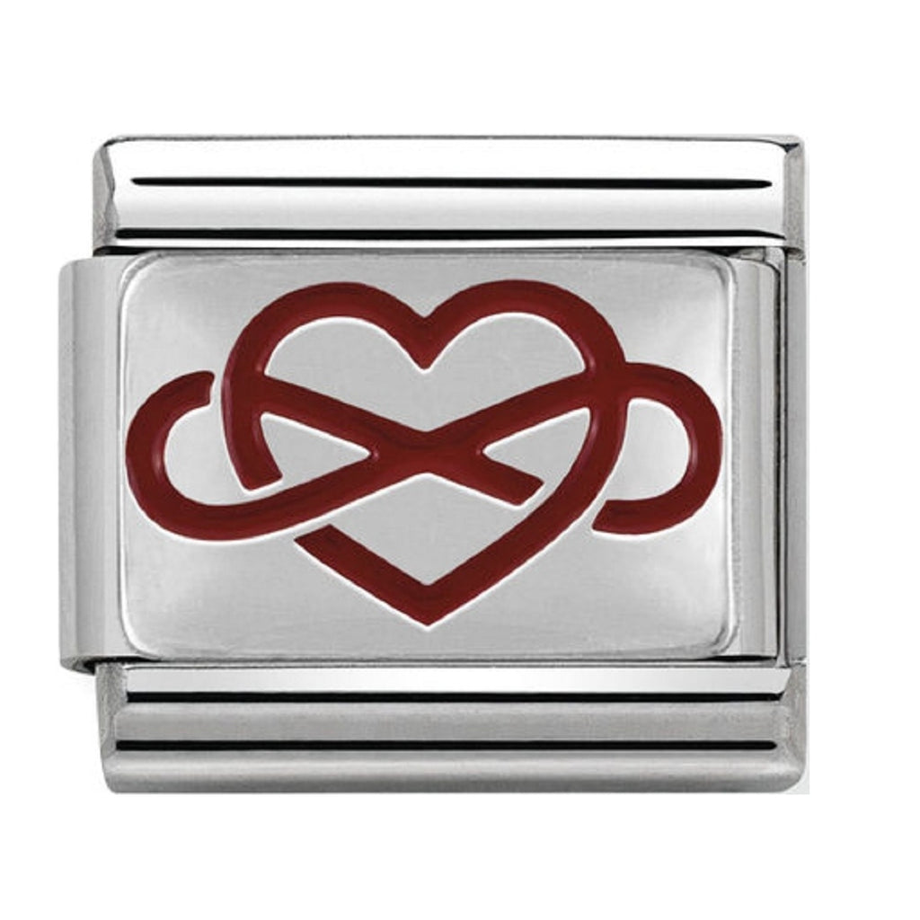 Nomination Charms Infinity Heart Silver and Enamel