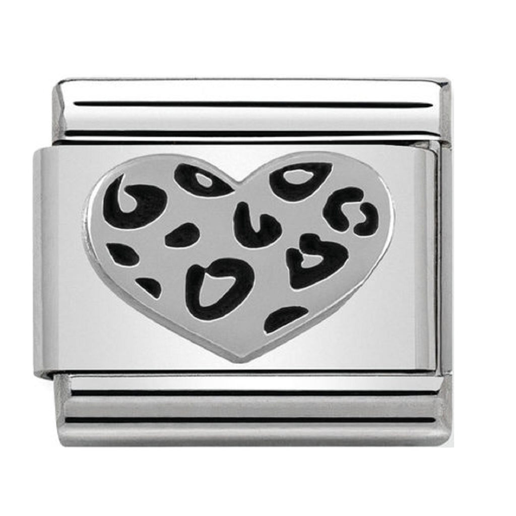 Nomination Charms Leopard Heart Silver