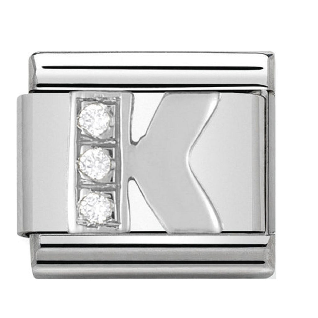 Nomination Charms Letter K Silver Shine