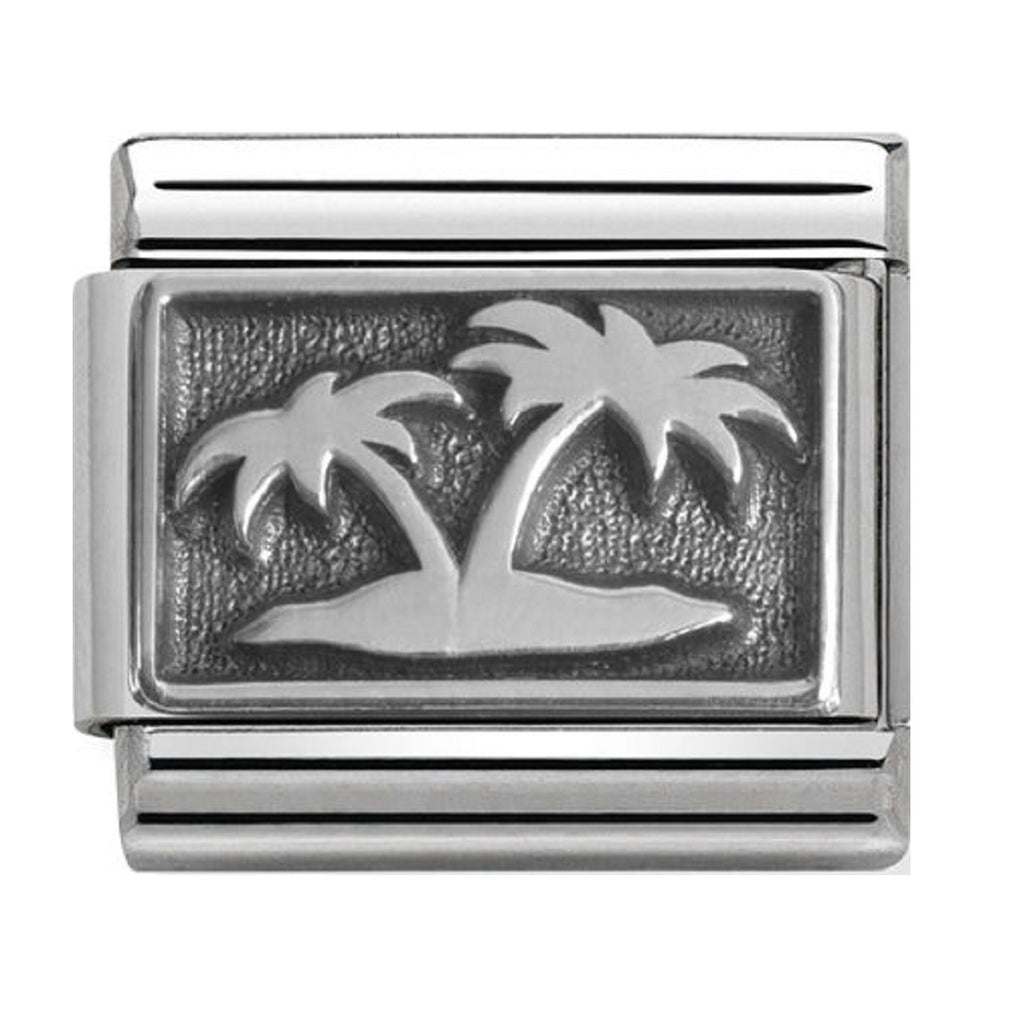 Nomination Charms Oxidized Silver Desert Island
