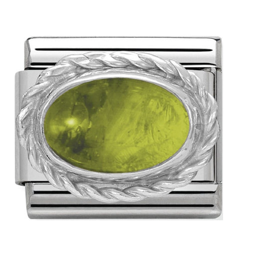 Nomination Charms Peridot Oval with Silver