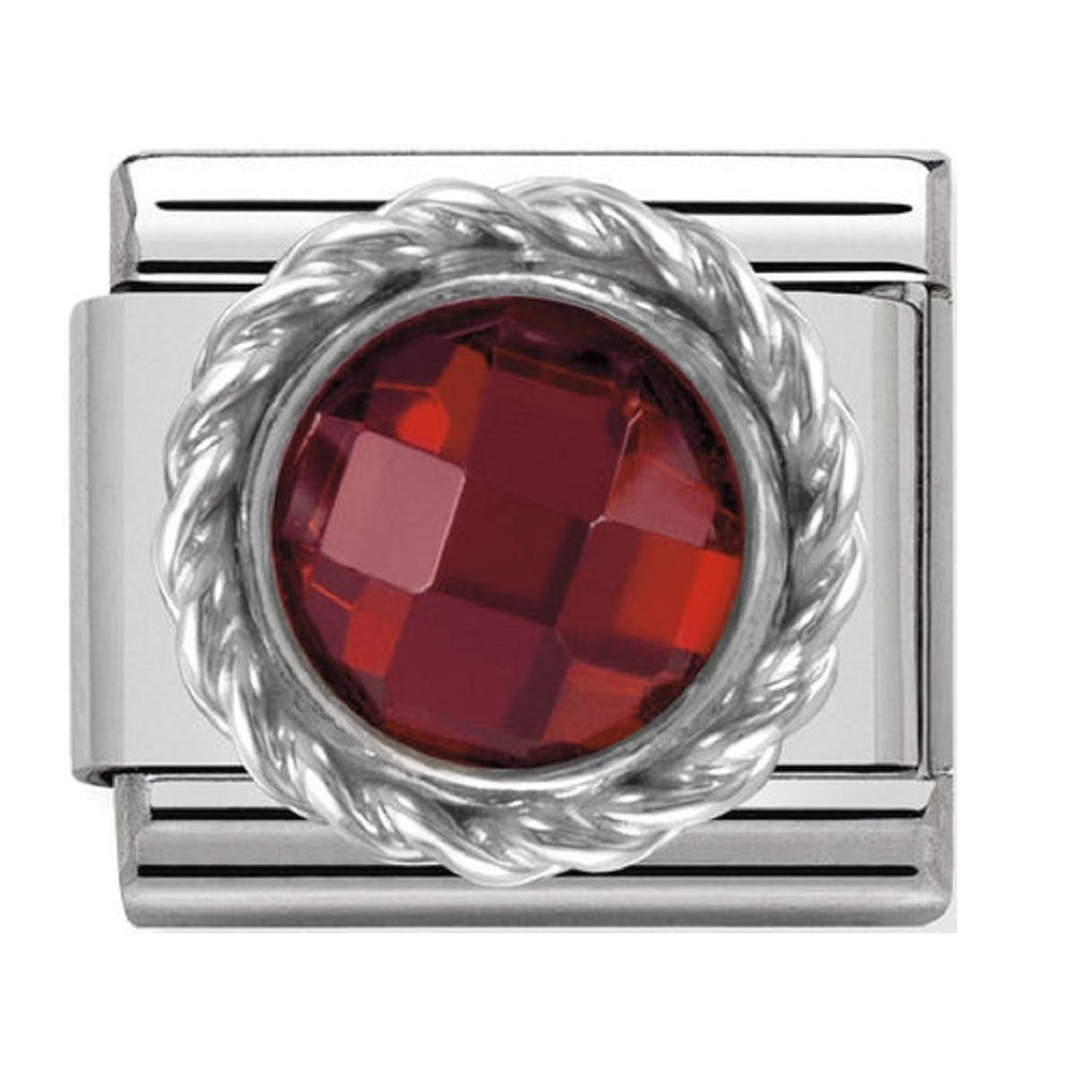 Nomination Charms Red CZ Silver Shine