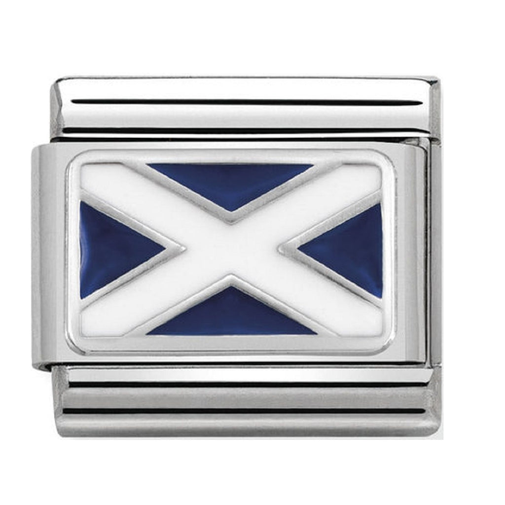 Nomination Charms Silver and Enamel Scottish Flag 330207-01
