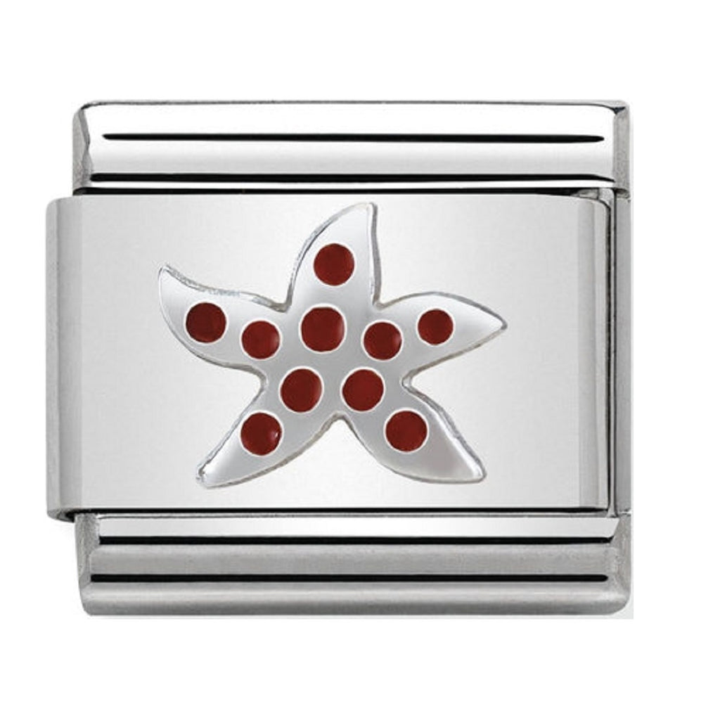 Nomination Charms Silver and Enamel Starfish