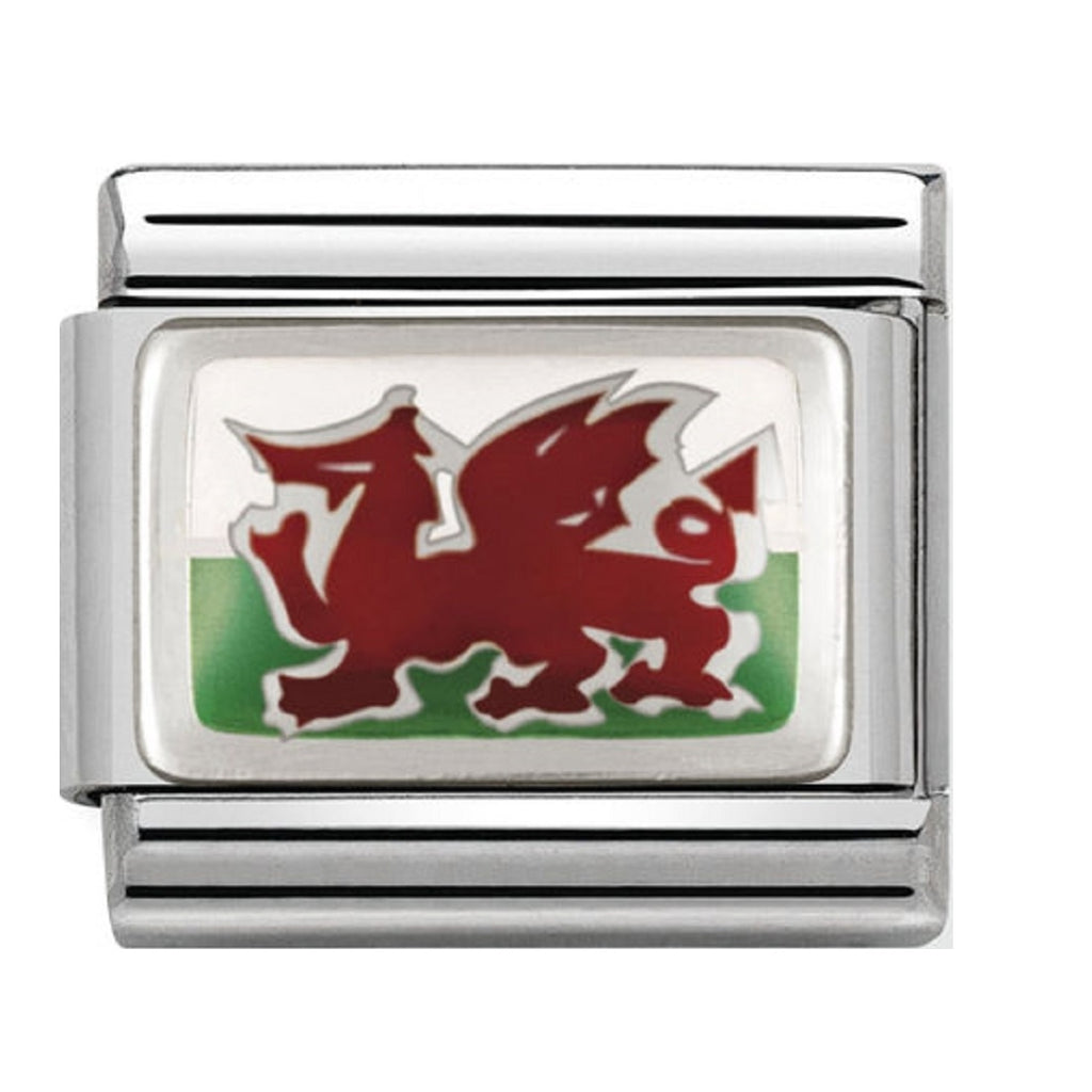 Nomination Charms Silver and Enamel Welsh Flag 330207-02
