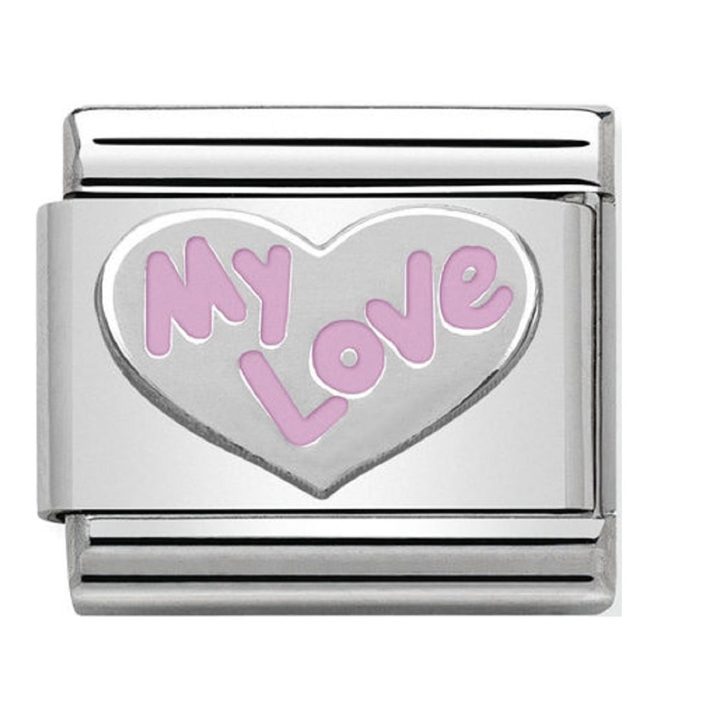 Nomination Charms Silver Heart My Love 330202-31