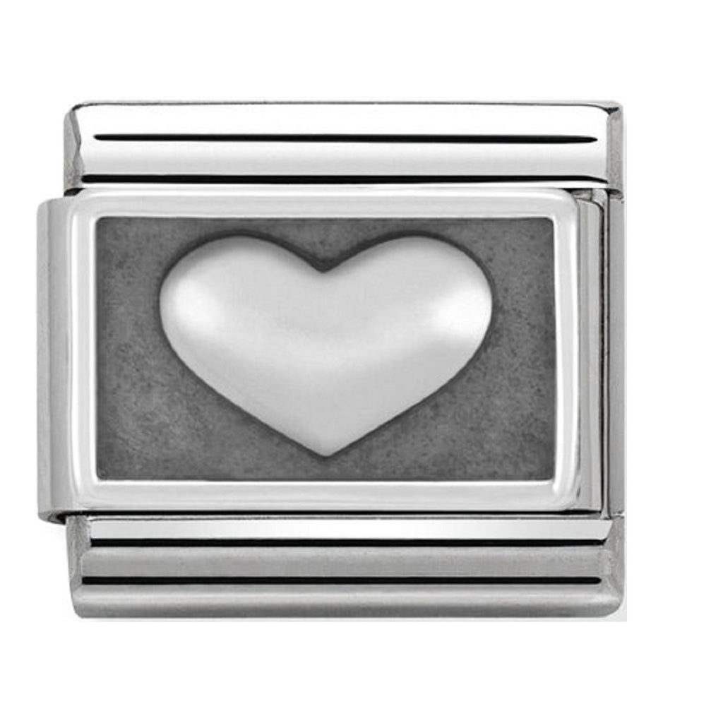 Nomination Charms Silver Heart Silver Shine