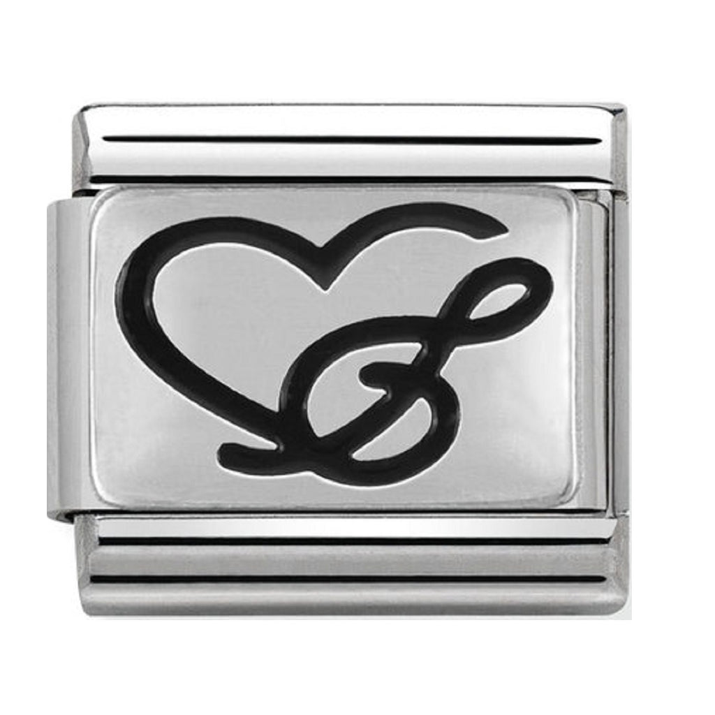 Nomination Charms Treble Clef Heart Silver