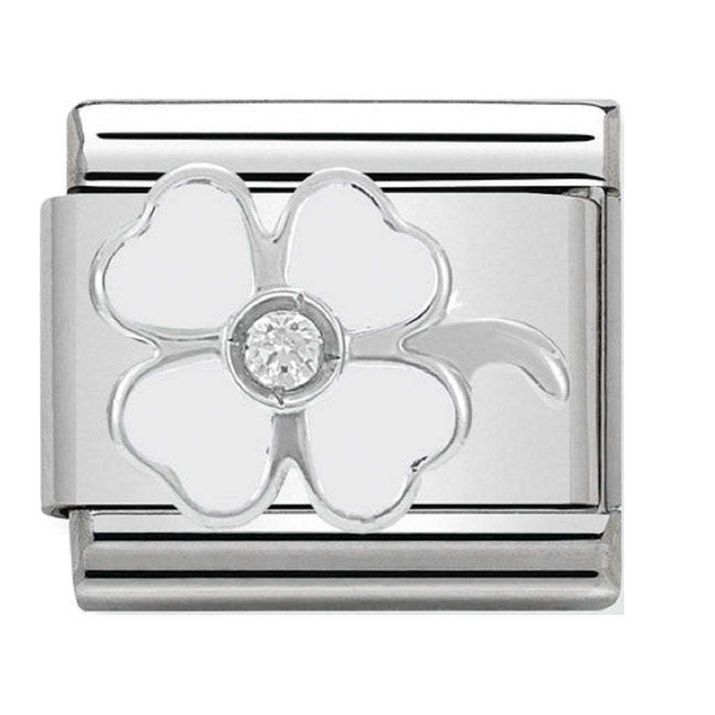 Nomination Charms White Clover Silver Shine