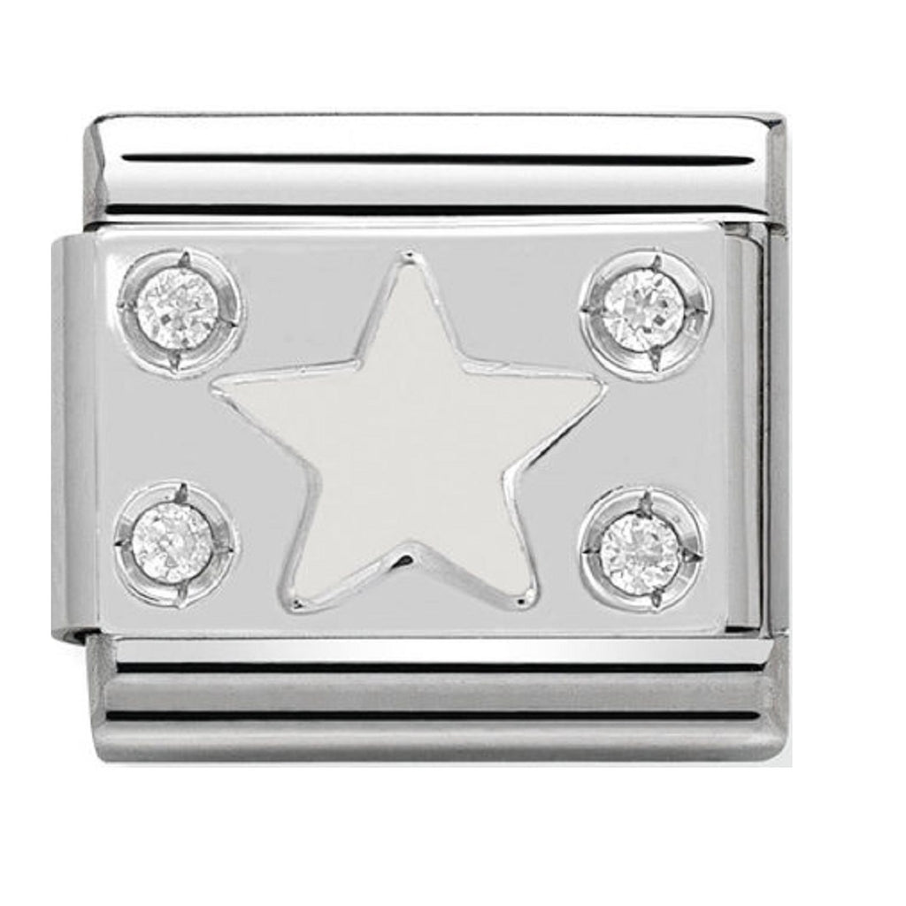 Nomination Charms White Star Silver Shine