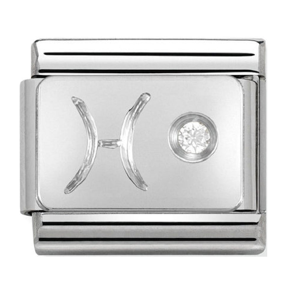 Nomination Charms Zodiac Pisces Silver Shine