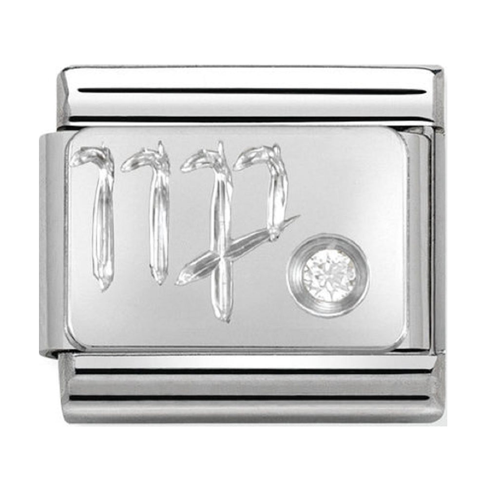 Nomination Charms Zodiac Virgo Silver Shine.