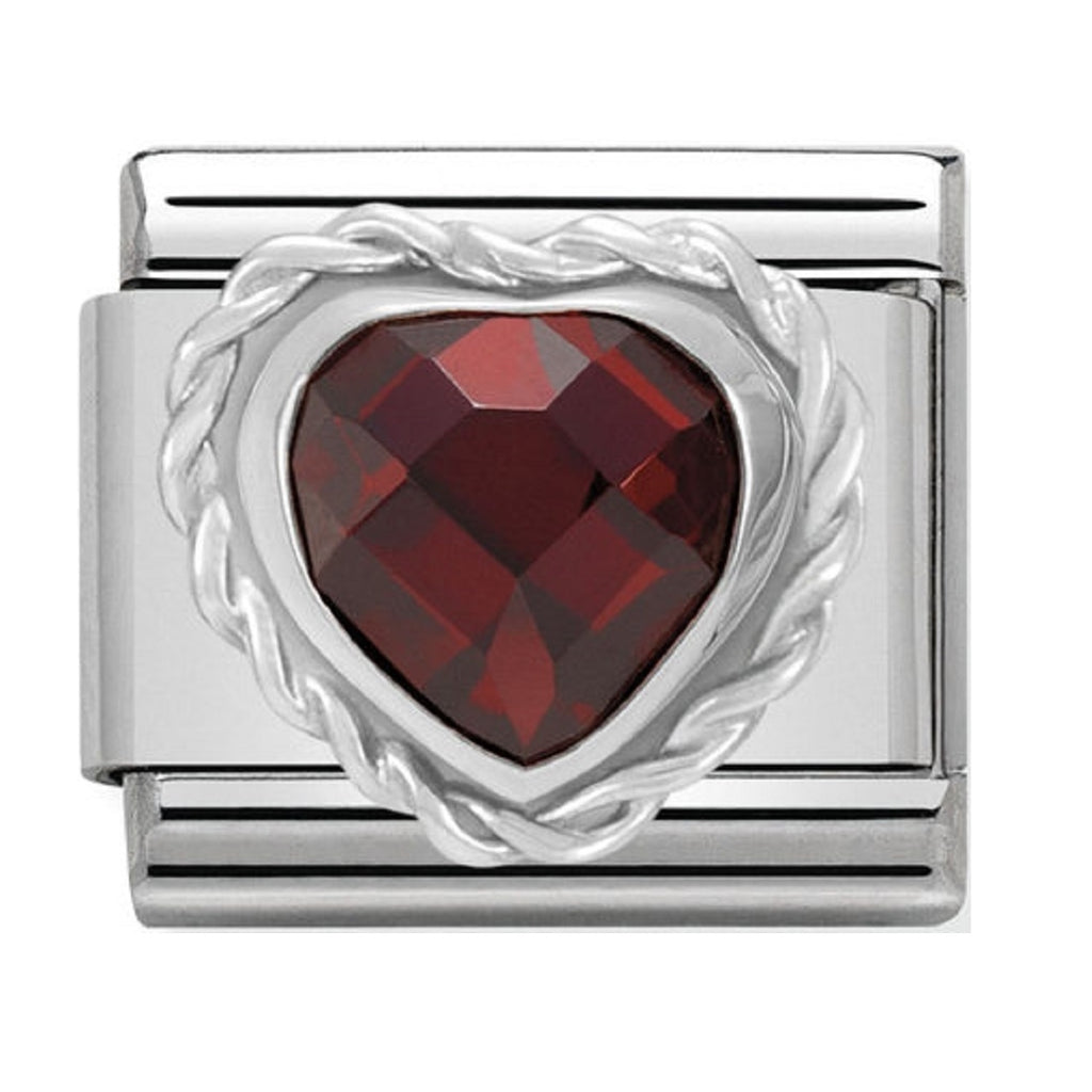 Nomination Silver Shine  CZ Red Heart Charms 330603-005