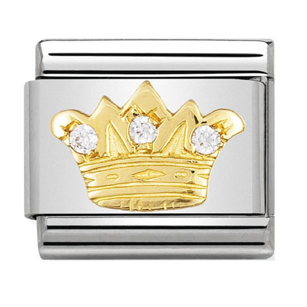 Nomination Charms 18ct and CZ Kings Crown